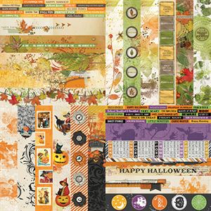 Picture of Fall Flourish by Katie Pertiet  Border Strips - Set 12