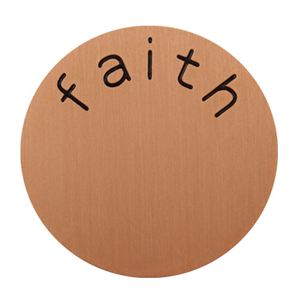 Picture of 'Faith' Large Rose Gold Coin