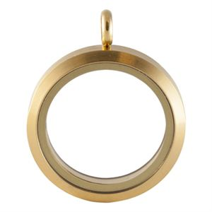 Picture of Large Matte Gold Locket