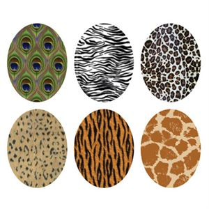 Picture of Animal Print Oval Locket Backdrops