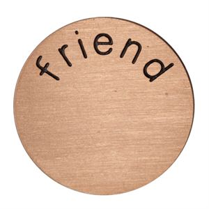 Picture of 'Friend' Medium Rose Gold Coin