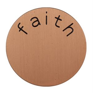 Picture of 'Faith' Medium Rose Gold Coin