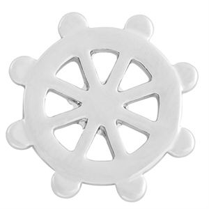 Picture of Large Silver Nautical Wheel Screen
