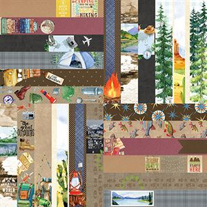 "Picture of The Great Outdoors by Lauren Hinds 2"" Border Strips - Set 12"