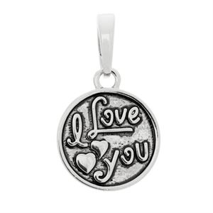 Picture of I Love You Silver Bangle Charm